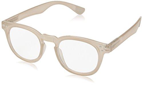 A.J. Morgan Unisex-Adult Cause - Power 1.25 40154A Square Reading Glasses, LIGHT BEIGE, - Glasses Amazon Square