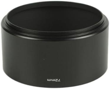 Pixco 72mm Tele Metal Screw-in Telephoto Black Lens Hood for Canon Nikon Sony Olympus Pentax