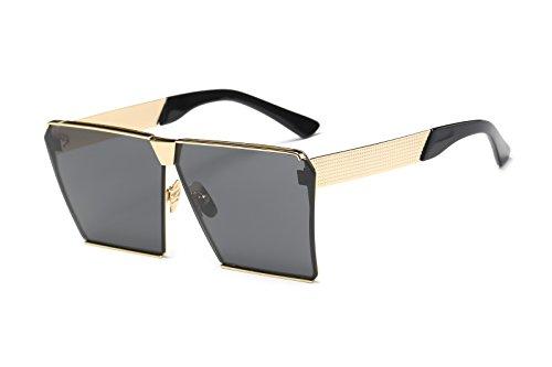 Square Retro Unisex Men Women Sunglasses For Girl boy Classic Lady Man Sunglass (Black, - The Sunglasses Most In 2016 World Expensive