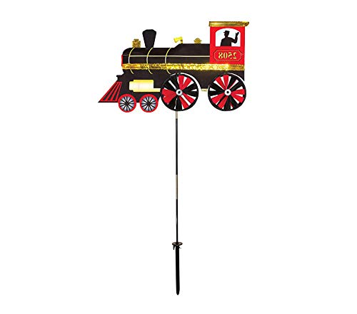 (Outdoor Garden Backyard Décor Steam Engine Ground Spinner-Garden Decoration )