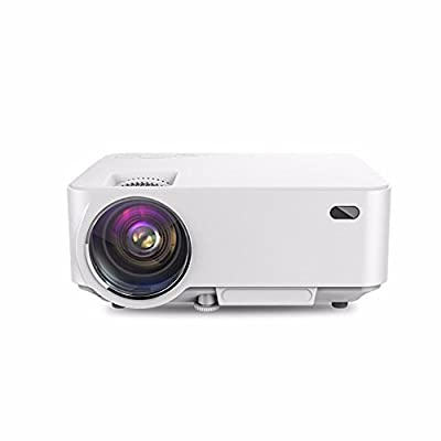 Putars Mini HD Projector 1080P, 1500 Lumens LED Multimedia Video Projector for Home Theater, iphone, ipad