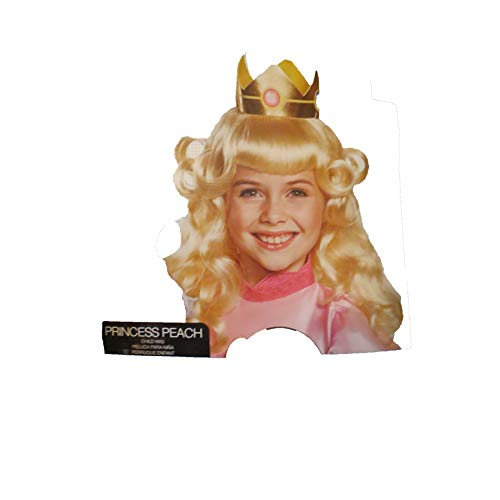 Target Super Mario Princess Peach Child Wig Ages 4+ psfm ()