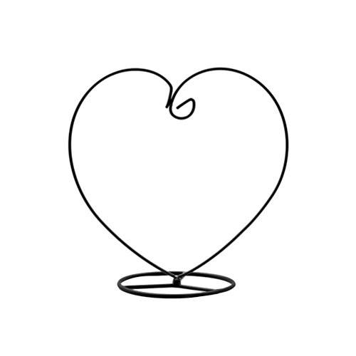 VORCOOL Heart Shaped Ornament Display Stand Iron Hanging Stand Rack Holder for Hanging Glass Globe Air Plant Terrarium Witch Ball Christmas Ornament and Home Wedding Decoration (Black)