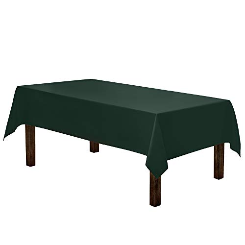 Gee Di Moda Rectangle Tablecloth - 60 x 84 Inch - Hunter Green Rectangular Table Cloth for 5 Foot Table in Washable Polyester - Great for Buffet Table, Parties, Holiday Dinner, Wedding & More (Green Felt Card Table)