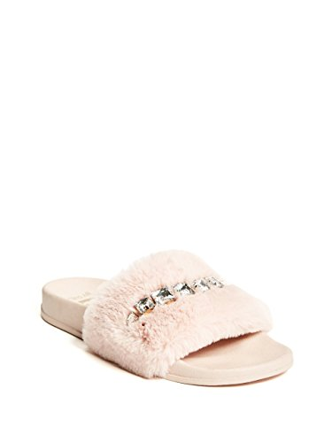 G by GUESS Women's Sammy Faux-Fur Slide Sandals