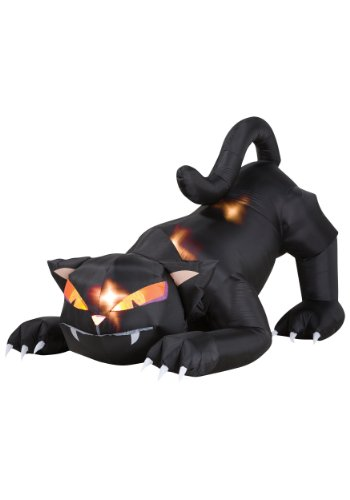Gemmy Halloween Airblown Cat 6' -