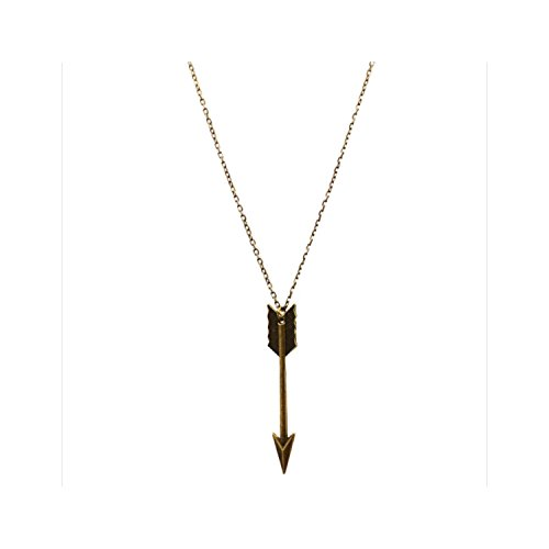 Bronze Womens Necklace (Arrow Fashion Bronze-Tone Necklace 30 Inch Long)