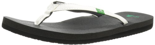 Sanuk Women's Yoga Joy Flip Flop,White,8 M US