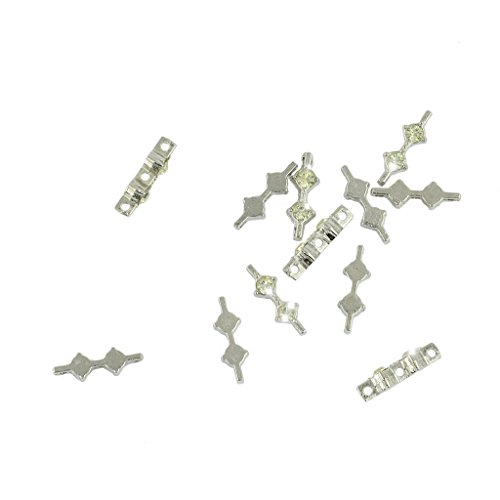 Baosity 50 Pieces/Pack Vintage Silver Crystal Spacer Bar 3 Hole Beads DIY Connector 20x7mm Beads Jewelry Making