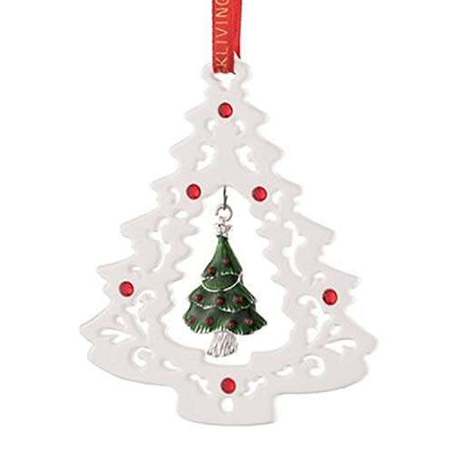 Belleek Pierced Tree Ornament
