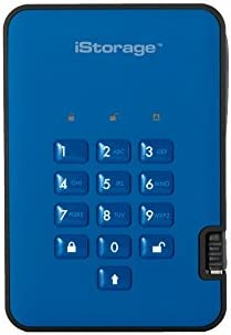 iStorage diskAshur2 256-bit HDD (2TB, ブルー)