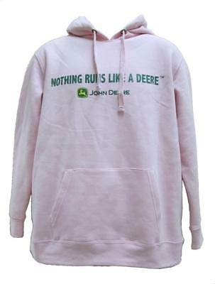 John Deere 'Nothing Runs Like A Deere' Fleece Hoodie - Women's - Pink, Pink