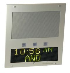 Advanced Network Devices - IPSWD-FM-RWB-IC - IP Speaker with Display and Flashers (Flush Mount, Singlewire) by Advanced Network Devices, Inc.