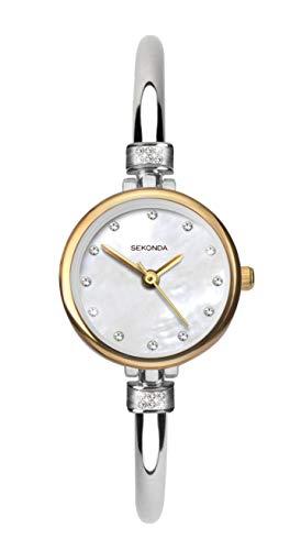 SEKONDA Womens Analogue Classic Quartz Watch with Silver Strap 2550.27