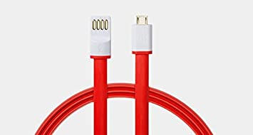VINIK Micro USB Flat Wire Data Cable For OnePlus X , OneplusX 1+X  Red  amp; White  Mobile Phone Data Cables