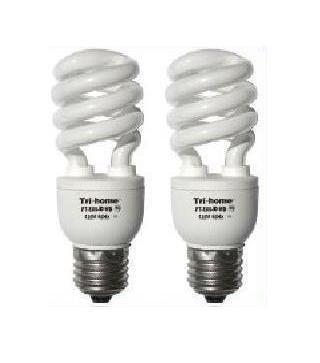 TWO 150W Output CFL Fluorescent Light Bulbs 33 Watts Daylight White BRIGHT 6400K Grow