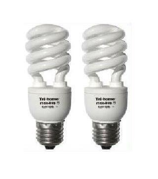 two 150w output cfl fluorescent light bulbs 33 watts. Black Bedroom Furniture Sets. Home Design Ideas