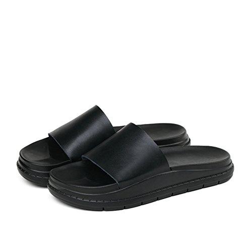 Use sandalias planas de cuero/Zapatillas antideslizantes A