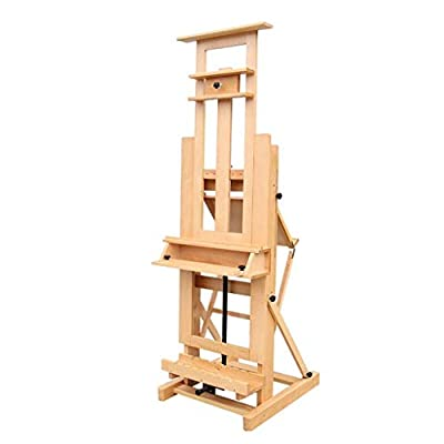 Hong Jie Yuan Wooden Easel - Multifunctional Solid Wood Easel Adult Professional Easel, Liftable Oil Painting Easel - Easy to Assemble