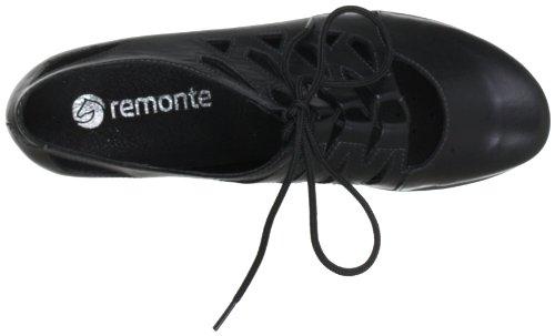 Remonte Dorndorf Milla D7312 - Zapatos de cordones de cuero para mujer Negro (Schwarz (schwarz 01))