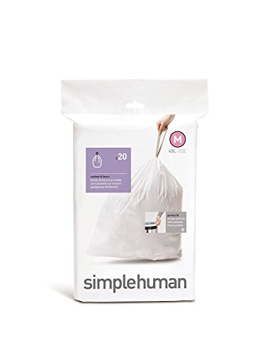 "Simple Human ""Code C"" Trash Can Liners 10 Liters 1.18mil 20"
