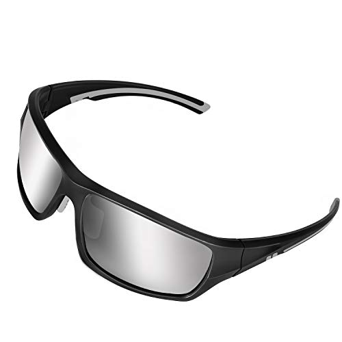 DUIDY Polarized Sports Sunglasses 100% UV Protection Sport Glasses for Men Women Cycling Fishing Driving Running Motorcycle Softball Tennis Golf Outdoor Activities (Best Glasses For Tennis)