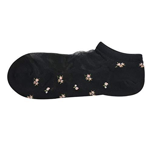WMING-womens socks 5 Paia di Calze Ultra-Sottili Calze Fondo di Cotone Deodorante Trasparente Calze Invisibili per Barche Calze Jacquard per Le Donne