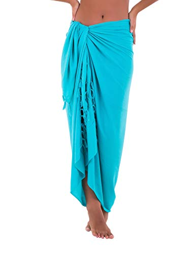 Shu-Shi Womens Beach Cover Up Sarong Swimsuit Cover-Up, Tosca, One Size,Tosca,One Size