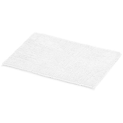 AmazonBasics Chenille Loop Memory Foam Bath Mat – White, Large