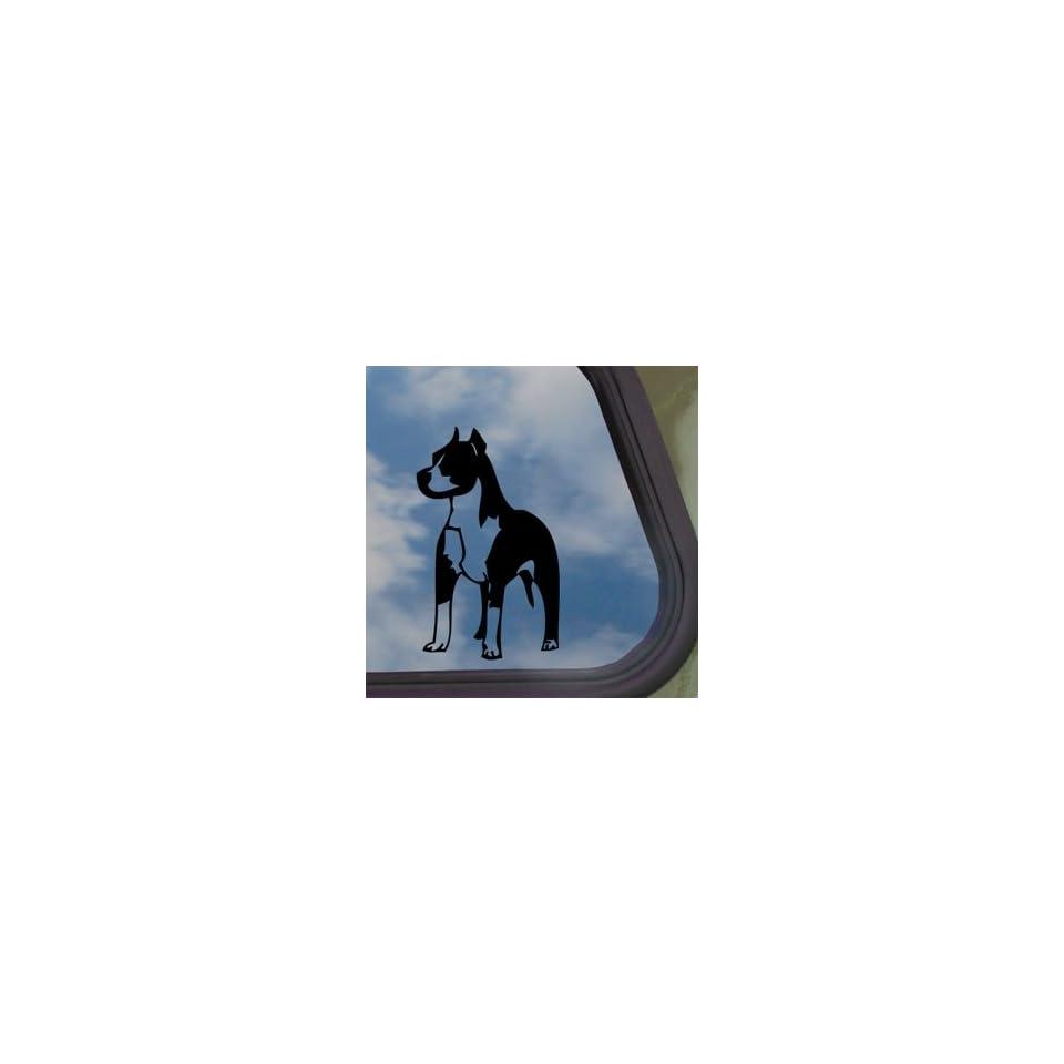 Pitbull Standing Bull Terrier Dog Black Decal Car Sticker