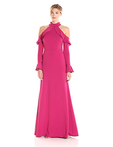 ml-monique-lhuillier-womens-cold-shoulder-long-sleeve-gown-pink-2