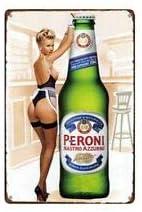Peroni Nastro Azzuro Beer Metal Tin Home Bar Pub Wall Sign Door 30 x 20 cm