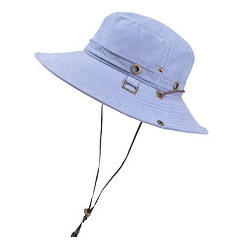 (Easytoy Fashion Summer Outdoor Sun Hat Bucket Mesh Boonie Hat Drying Fishing Cap)