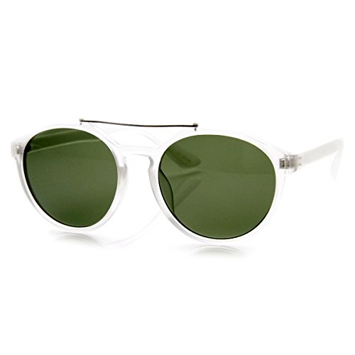 zeroUV - Euro Dapper Crossbar Keyhole Round Sunglasses - 1 Sunglasses Euro