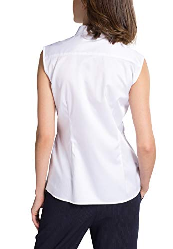Blouse Classic Uni Sleeves Modern Without Bianco Eterna 8xq4v7U