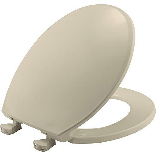 Bemis 800EC 006 Toilet Seat with Easy Clean & Change Hinges, Round, Bone