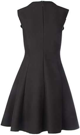 Luxury Fashion | Msgm Dames 2841MDA0720710099 Zwart Polyester Jurken | Lente-zomer 20