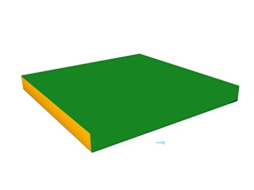 Gymnastics Green Soft Mat for Kids / (40'' X 40'' X 4'') / Playground Indoor Sport Matting / Childrens Large Washable Mats for Home Play / Non Slip Thick Mat for Front Hallway / Cheap Fold up Playroom Mat by sportkid