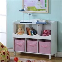 Cubby Toy Storage (Girls Furniture Shelf)
