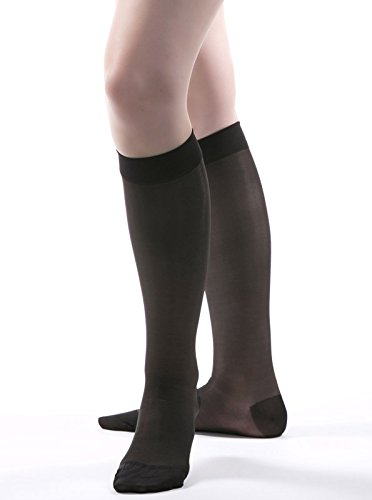 Allegro 15-20 mmHg Essential 16 Sheer Knee High Closed Toe Compression Hose