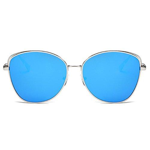 Silver Frame Retro Tendencia Sol XGLASSMAKER Sol De Blue Gafas Ice Gafas Metal De SaWvZz