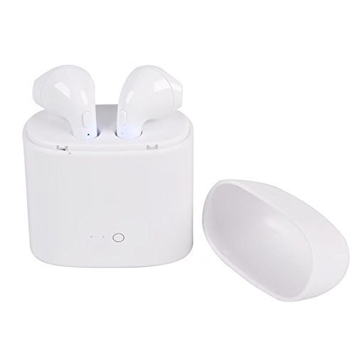 Price comparison product image Bluetooth wireless ear pods, head phones, with portable charger and case - For iPhone, Android, Laptop, or any Bluetooth compatible device