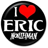 "I HEART ERIC NORTHMAN Pinback Button 1.25"" Pin / Badge Love True Blood Vampire"