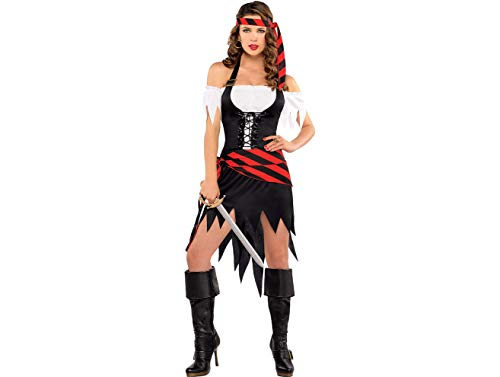 - Amscan 844601 Adult Rogue Maiden Pirate Costume, Medium, Black