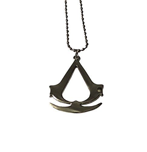 Assassin's Creed Logo Pendant Chain Necklace Costume Accessory