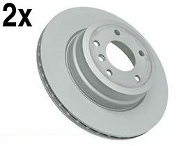 BMW 135 (08-12) Brake Disc Rear L+R (x2) 'Z' COATED (08 Rear Disc Brake)