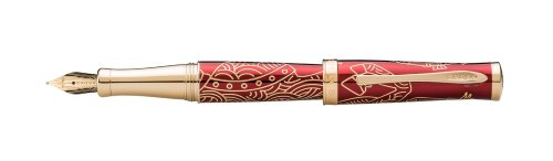 Cross 2014 Year Of The Horse Special Edition Collection, Imperial Red Lacquer, Fountain Pen with Medium 18 Karat Gold Nib (AT0316-16MD)