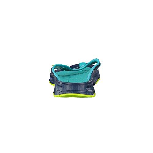 Salomon Rx Break W, Chanclas para Mujer, Azul (Reflecting Pond/Deep Peacock Blue/Lime Green), 36 EU