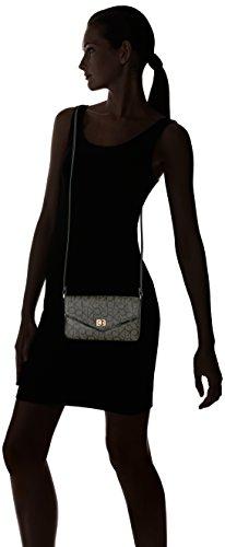 Black Calvin Klein Black Txtrd Khk Signature Saffiano Crossbody Hudson Flap fAvq0Rwvx