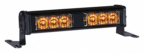 - Amber Mini Light Bar, LED Lamp Type, Surface Mounting, Number of Heads: 6